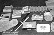 Wrap that rascal! Some of the items on display at - CSU's History of Contraception.