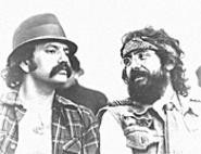 You can't see Tommy Chong (right) in The - Marijuana-Logues this week, but you can see him - at your very own Drug Movie Marathon.