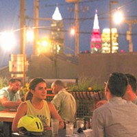 Black Pig You won't find a better view of the Cleveland skyline than the one from the rooftop patio bar at Black Pig. Take the elevated route above West 25th Street and Ohio City to the sequestered and quaint perch above the Black Pig for one of the most relaxing spots in the bustling neighborhood.1865 West 25th St., 216-862-7551 Photo via Facebook