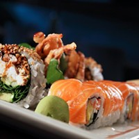 The 10 Best Sushi Restaurants In and Around Cleveland Zack Bruell's masterpiece features a Surf & Turf roll. This giant eight piece roll is a combination of the lobster and steak roll. Photo Courtesy of Ginko, Website