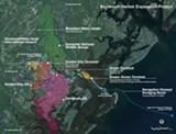 A detail from a presentation to the Coastal Regional Commission Council shows an overview of SHEP's reach beyond the Savannah River.