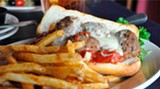 A meatball sub done right: Not too much or too little marinara and cheese