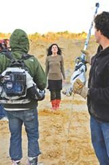 J. T. BLATTY - A scene being filmed