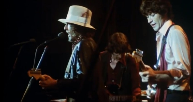 A still from Martin Scorsese's The Last Waltz