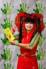 Artist Liz Gibson as her character Ben Wa Betty