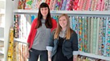 Ashleigh Spurlock & Emily McLaughlin, co-owners of Fabrika Fine Fabrics