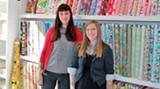 Ashleigh Spurlock & Emily McLaughlin, co-owners of Fabrika Fine Fabrics