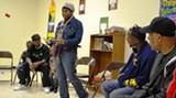 AWOL's Lakesha L. Green addresses a parents' meeting