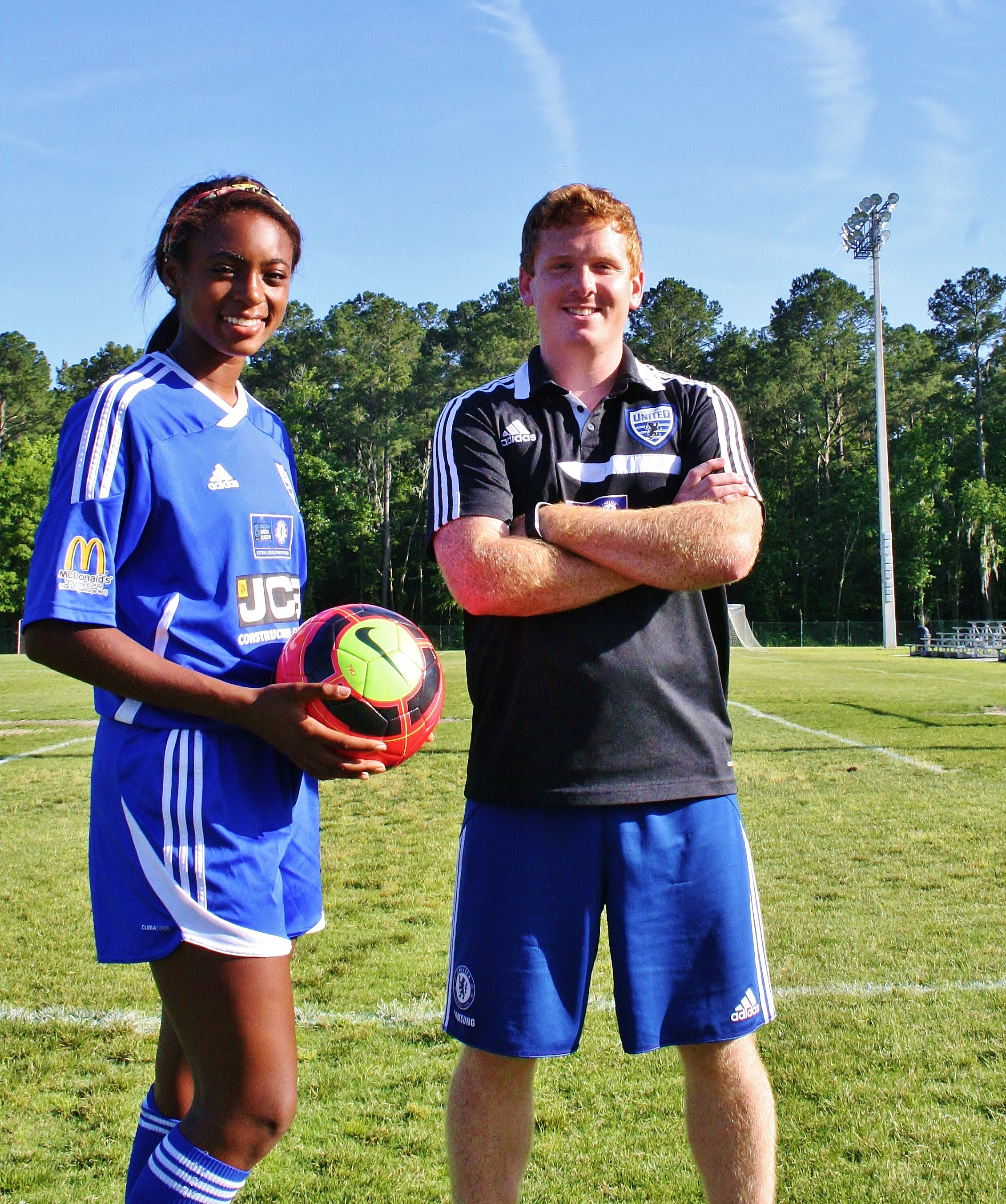 MATT PRITCHARD AND SH'NIA GORDON OF SSA SAVANNAH UNITED
