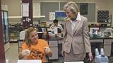 Biology major Mendi Kallum talks with AASU Pres. Linda Bleicken