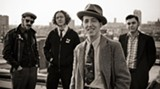 Can you guess which one is Pokey LaFarge? Yep, that's him in front.