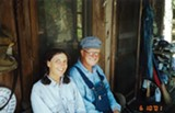 ORLANDO MONTOYA - Carol Ruckdeschel with her late husband and research partner, Bob Shoop, in 2001.