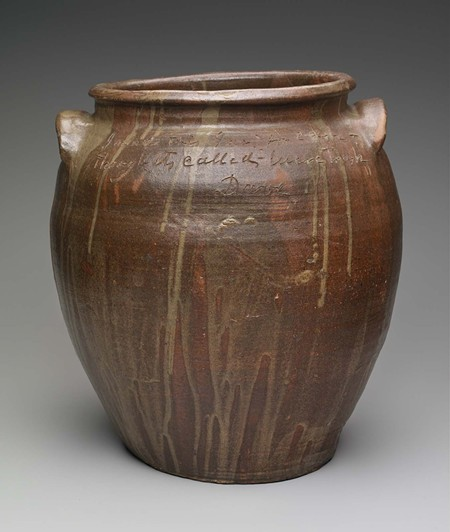 Ceramic stoneware made by the enigmatic 'Dave the Potter' is highly sought after by collectors and curators.