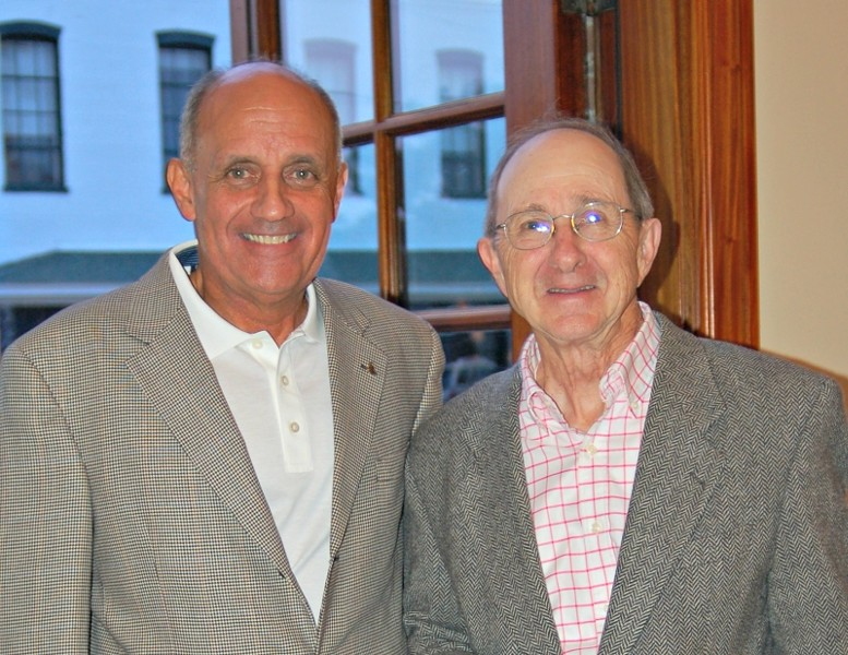 Charles H. Morris (right) with Canyon Ranch Institute President Richard H. Carmona, M.D., M.P.H., FACS, 17th U.S. Surgeon General. Their shared dedication to health and wellness for the people of Savannah is a catalyst for programs focused on the Savannah community, including the Canyon Ranch Institute Life Enhancement Program (CRI LEP) with Curtis V. Cooper Primary Health, the CRI Healthy Garden at Trustees' Garden, and the Canyon Ranch Institute Savannah Partnership (CRISP).