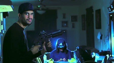 "Charles Smith aka Mista Dee, in the video ""I Might"" with Fly"