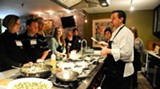 Chef Darin in action, teaching the essence of making fabulous dishes at 700 Kitchen Cooking School