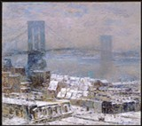 Childe Hassam: 'Brooklyn Bridge in Winter'