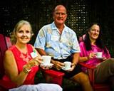 Coastal Green Tea Coalition organizers Claudia Collier, Roy Lynch and Karen Graine