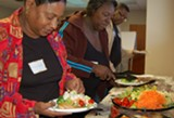 CRI LEP participants enjoy a healthy meal as part of each weekly session