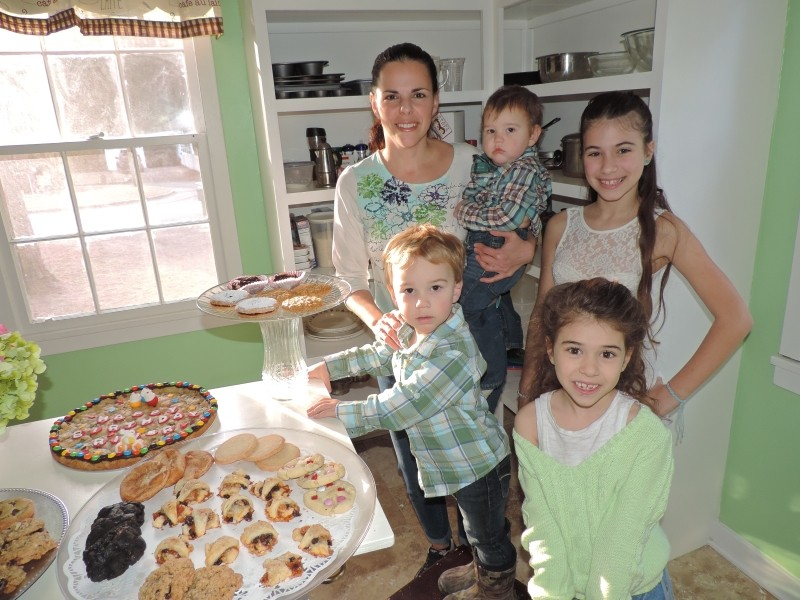 Dawn Ciano Brosh with baby Tristan, toddler Cameron, oldest daughter Daniela (designer of the logo) and her lil' sis Katerina