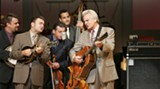 Del and the McCoury band: That's Ronnie on mandolin, left; Daddy Del is on the right