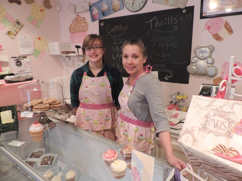 Delores Montoya (right), owner and master baker, with her trusty bakery clerk Christine Williams