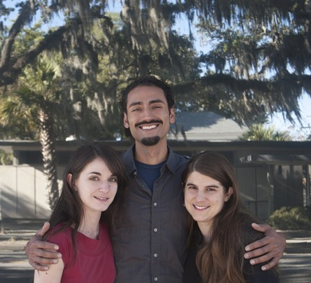 Emily Earl, Alexis Javier Perez and Jennifer Moss