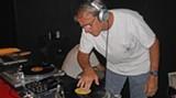 Ernie Hollingsworth spins at the last Vinyl Appreciation Night