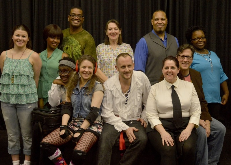 Front row: Chaquayla Halmon, Simona Perry, Ryan Ahlert. Second row: Casandra Beals, Belon Young, Rod Ellis, Paulette Hosti, Steven Ware, Brandi Mitchell.