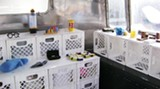 Get this: A cross-section of innovative products inside the Revolution trailer.