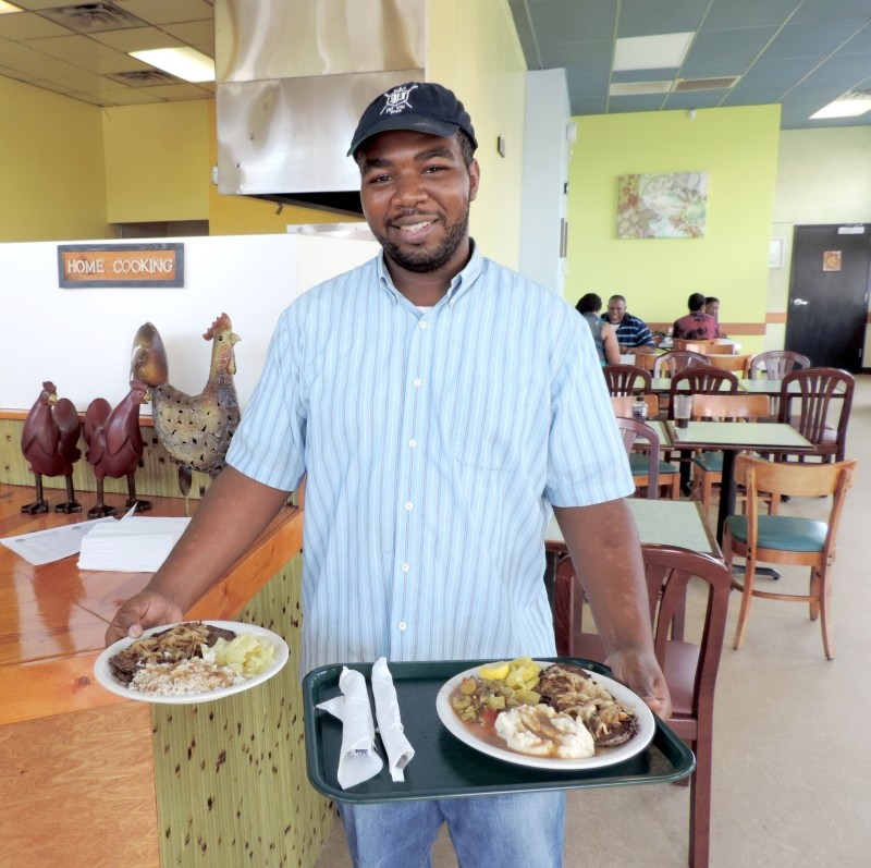 Glorious golden-brown fried chicken, cooked and served with a smile by Chef Marcus Snipes