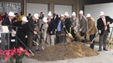 Groundbreaking underway at the new facility