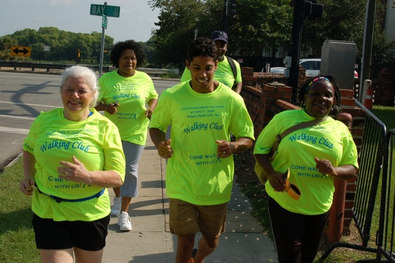 In a health literate community, people find ways to move their bodies and enjoy the being with friends. Participants and members of the Core Team from the CRI Life Enhancement Program have formed a walking club as a way to get more exercise every week.