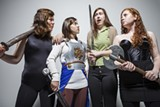 In Qui Nguyen's comedy She Kills Monsters: Kaitlyn Ortega, left, Gabrielle Hespe, Meagan Mulgrew and Cayla Scott.
