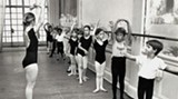 In this vintage photo, Suzanne Braddy teaches a ballet class that includes young Gabrielle Lamb (she's third from the right).