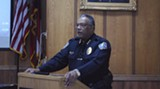 Interim Police Chief Willie Lovett at the press conference