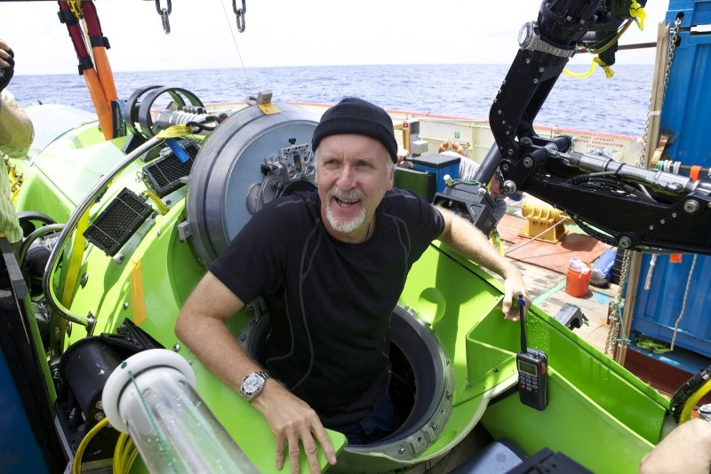 James Cameron in a shot from the headlining film, Deep Sea Challenge.