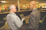 JUSTIN ROWE - Jeff Brochu with Mayor Johnson