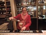 Joyce Shanks pours some wine
