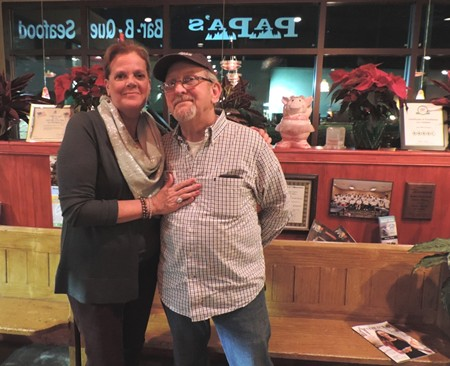Judy & Frank Ouzts, owners of Papa's BBQ & Seafood