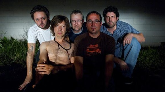 Keith Kozel (shirtless, second from left) with GAM - GEOFF L. JOHNSON