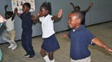 Kindergarten students in Ms. Osborne's dance class, which would be eliminated in the restructuring