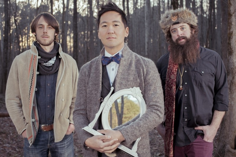 Kishi Bashi is the musical moniker of violin wiz Kaoru Ishibashi, center. - Photo by Kaden Shallat.