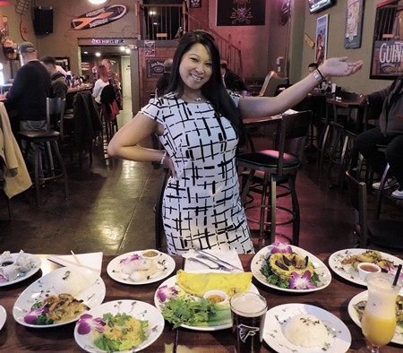 'Lady Saigon' Rachel Tran, with some of her wonderful food.