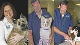 Left. Dr. Carla Case-McCorvey today; at right, two shots of longtime Case vet Kenny Weaver