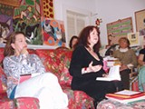 ROBIN WRIGHT GUNN - Lisa Warren with Rosemary Daniell at a recent Zona Rosa meeting