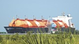 LNG is imported from around the world by tanker to the facility on Elba Island
