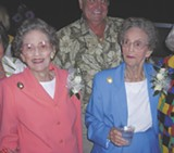 JIM MOREKIS - Lois Fisher and Eloise Rogers at Wesley Monumental Saturday