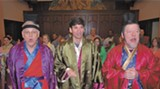"Novelist Jonathan Rabb, center, plays the Lord High Executioner in the Asbury Memorial production of ""The Mikado."""