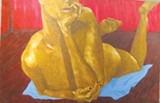 Oils by Rose Covert are at Gallery Espresso; reception is ThursdaySCAD student mixed media is at Dimensions Gallery on MLK'Thai Gods' by Brian MacGregor, part of the celebratory 10th anniversary group show at A. T. Hun in City Market